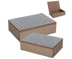 Dcasa Set di 2 scatole portaoggetti per Decorazioni Festive e Articoli per la casa, Unisex, per Adulti, Multicolore (Multicolore), Unico
