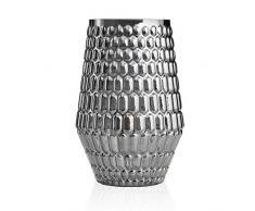 Pauleen 48002 Tavolo Crystal Sparkle Max. 20W E14 Lampada da Comodino 230V Vetro Senza Lampadina, Antracite, Grigio
