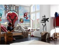 Komar-Poster Star Wars, Rebels, da Muro, Carta da Parati, Colore: Multicolore, 8 Pezzi
