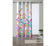 Martina Home Piramide Tenda Occhielli, Tessuto, Multicolore, 280Â x 140Â x 3Â cm