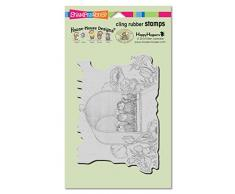 Woodware Craft Collection-Timbro aderente Stampendous Mouse House, 4 x 6 -Cassetta della posta di docce, in acrilico, multicolore