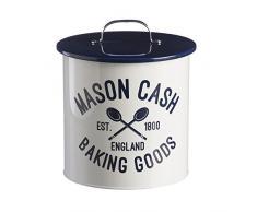 Mason Cash Biscottiera in confezione regalo con 3Â formine per biscotti e rifiuti grembiule, acciaio inossidabile, bianco, 20Â x 19Â x 21.5Â cm