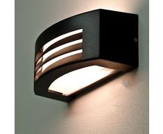 Lampada da parete moderna Flantern / Luce da parete esterni / Lampada per esterni / Nero / IP44