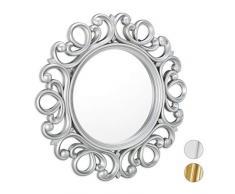 Vetro 45/x 90/x 2.5/cm Kristaled Specchio da Bagno sabbiatura con Luce LED Frontale Argento