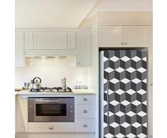 Walplus – Adesivi da Parete 3d cubes Pattern 4 confezioni Frigo Decorazioni rimovibile adesivi decalcomanie arte salotto cucina mobili arredamento decorazione per la casa, ristoranti, hotel, Multicolore