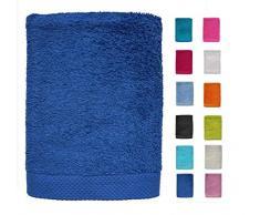 DHestia - Set di Asciugamani da Bagno e Doccia, 100% Cotone, 500 g/m², Colori e Misure Grandi, Colore: Blu, 50 x 100 cm (Confezione da 3)