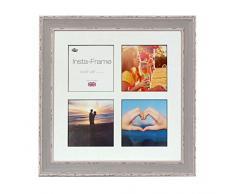 Inov Agosto 16 x 40.64 cm cornici mosaico Instaframe foto di Instagram 4 / foto stampaggio plaid con bordo nero e bianco opaco, lavare al blu