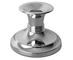 silberkanne Candelabro Argentato Sylt, Altezza 6 cm, Placcato Argento, Lavorazione di qualità