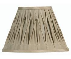 Oaks Lighting - Paralume con bordi ricamati, in seta Sutlej, 51 cm, colore: sabbia (il supporto del paralume è venduto separatamente)