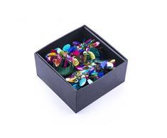 LegendArte LH-017 Allacciatovaglioli Anelli Portatovaglioli Gioiello, Multicolore, 19x19x7 cm, 4 unità
