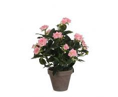 Mica Decorations 948332 T pianta artificiale, in plastica, 25 x 25 x 33 cm, Rosa