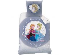 Disney Frozen 042937 - Biancheria da letto Sisters, in cotone, 135 x 200 + 80 x 80 cm
