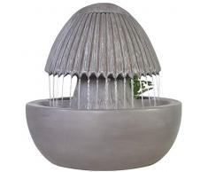 Zen Light Umbrepot - Fontana da Interno con Pompa e Illuminazione LED, in Resina, Taglia Unica