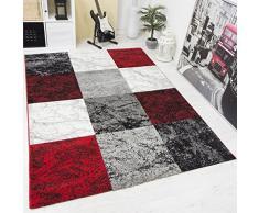 VIMODA Tappeto dal Design Moderno, a Quadretti, Effetto Marmorizzato, Colori Assortiti, 60 x 110 cm