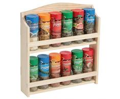 Kesper 13130 portaspezie con 12 bicchieri Pieno in legno di pino