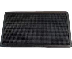 Textiles SAR - Zerbino in Gomma, 35 x 60 cm, Colore: Nero