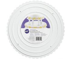 Wilton Brands Inc - Piatto rotondo per decorazione torte, con bordi smerlati, 35,5 cm