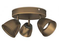 Philips County 3 Faretti a Forma di Spirale LED, 3 x 4W, Bronzo