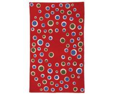 Zaida, 1 pezzo, 150 x 90 cm, lana Bolla moquette, cotone, rosso