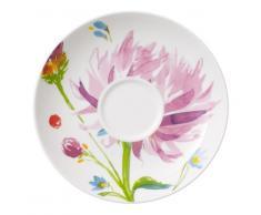 Villeroy & Boch Anmut Flowers Piattino Tazza Caffe, 15 cm, Porcellana Bone China, Multicolore