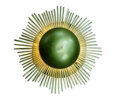 Lampade e luce, ferro, nuovo stile mano girasole, lampada da parete moderna luce interno, 89Â x 18Â x 89Â cm, verde