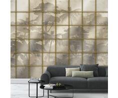 9 ROTOLI Carta da parati Tropic Window foresta tropicale parete completa 513x300cm 15,39 MQ COLLA INCLUSA