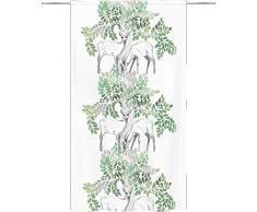 Vallila Ihastus 140x250 cm Verde Stampa Tenda per la Camera dei Bambini, 250cm x 140cm