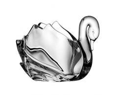 Crystaljulia 5723 - Candelabro in Cristallo al Piombo Pbo, 11,5 cm, Colore: Trasparente