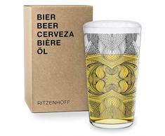 RITZENHOFF - Bicchiere da Birra Next Beer di Joan Tarragó, in Cristallo, 330 ml