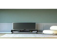 Homemania Mobile Porta TV Manolya, Legno, Nero, 120x35x40 cm