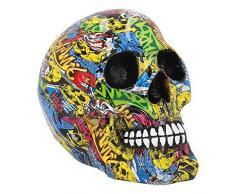 Nemesis Now - Statuetta Graffiti, 16 cm, Colore: Giallo, 19 cm