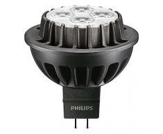 Philips Master LED dimmerabile bianco neutro 15 gradi angolo del fascio di luce alogena MR16 spot Light, Sintetico, Black, GU5.3, 7 wattsW 240 voltsV