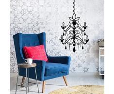 Walplus mobili set lampadario ufficio casa decorazione Wall Stickers adesivi rimovibili, nero, 34Â x 82Â cm