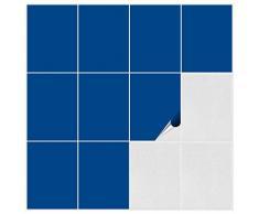 FoLIESEN Piastrelle adesive per bagno e cucina, 15 cm x 20 cm. Colore: grigio argento lucido. 90 piastrelle adesive da parete