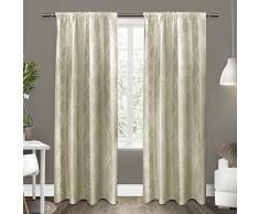 Exclusive Home Como Rod Pocket Window Curtain Panels, Poliestere, Wheat, 96 x 54 x 0.2 cm