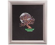 Duftin 13040-AZ01 - Telaio per punto nodo, motivo bonsai, 37 x 42 cm