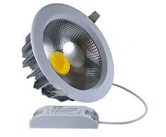 V-TAC, Faretto LED da incasso, rotondo, 4500 K, 230 V, 120 gradi, 30 Watt