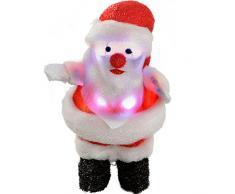 WeRChristmas - Decorazione natalizia a forma di Babbo natale, con luci LED, 34 cm
