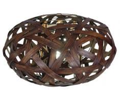 Naeve Leuchten, Lampada da tavolo in legno intrecciato, 30 x 50 cm, 230 volt, E27