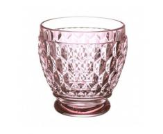 Villeroy & Boch Boston Coloured Coppa Shot, Vetro Cristallo, Rosa, 6.3 x 13 x 7 cm