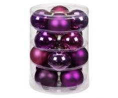 Inge-glas 1765D004 - Confezione da 16 Palline per Albero di Natale Bohemian-Mix, 75 mm