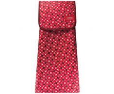 Les Artistes Paris a-1605Â sacchetto Passeggino Fiore Tessuto rosso
