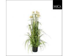 mica decorazioni 930524 pom pom Feather erba pianta artificiale, PVC, verde, 45 x 45 x 120 cm