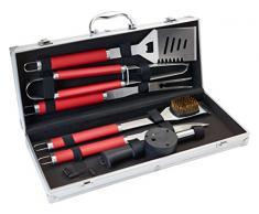 JD Diffusion c5637Â valigetta barbecue manico alluminio rosso/multicolore 50,4Â x 48,2Â x 9Â cm 6Â pezzi