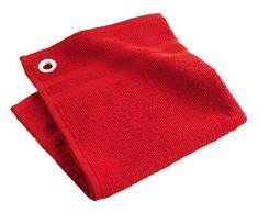 Douceur d'Intérieur - Asciugamani, 50 x 50 cm, Cotone, rosso, 50x1x50 cm