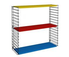 Tomado Scaffale modulare, Metallo, Tricolore, 70Â x 21Â x 68Â cm
