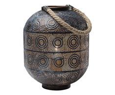 Kare Lampada da Terra Sultan, Nero, 30.5 x 23 x 23 cm