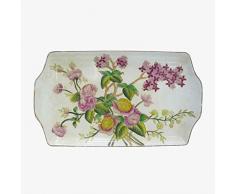 Better & Best Fontana Plumcake in ceramica, larghezza decorata con camelie, dimensioni 33 x 19,5 x 4 cm