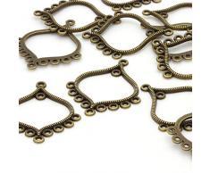 Beads Unlimited - Lampadario, 38 x 30 mm, colore: Oro