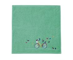 Eiffel Textile Set di Strofinacci Cucina Bici Ricamato, Cotone, Multicolore, 45Â x 45Â x 10Â cm, 3Â Pezzi